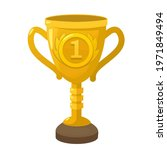 vector icon winner gold cup.... | Shutterstock . vector #1971849494