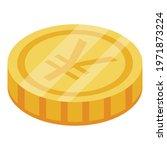 japanese yen coin icon....