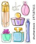 coleção,curva de nível,desenhado,essência,perfumaria,mão,produto,esboço