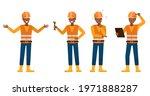 set of builder man working... | Shutterstock .eps vector #1971888287