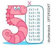 multiplication table with happy ...   Shutterstock .eps vector #1971910247