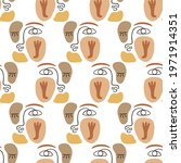 abstract faces seamless pattern ... | Shutterstock .eps vector #1971914351