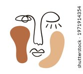 abstract face portrait with... | Shutterstock .eps vector #1971914354