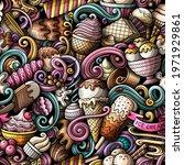 cartoon doodles ice cream... | Shutterstock .eps vector #1971929861