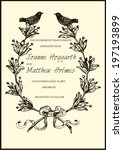 vector wedding invitation... | Shutterstock .eps vector #197193899