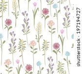 floral seamless pattern for...   Shutterstock .eps vector #197194727