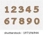 numbers set. illustration | Shutterstock .eps vector #197196944