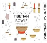 tibetan healing bowl  aroma...   Shutterstock .eps vector #1972075481