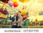 young smiling couple having a... | Shutterstock . vector #197207759