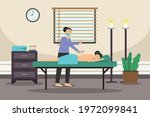 acupuncture vector concept.... | Shutterstock .eps vector #1972099841