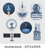 space design elements. eps10. | Shutterstock .eps vector #197214545