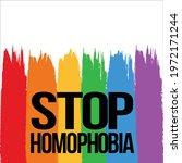 stop homophobia text effect in...   Shutterstock .eps vector #1972171244