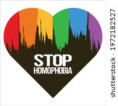 stop homophobia white text...   Shutterstock .eps vector #1972182527