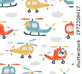 childish seamless pattern with... | Shutterstock . vector #1972208417