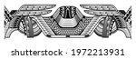 polynesian tattoo pattern maori ... | Shutterstock .eps vector #1972213931