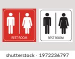 Man And Lady Toilet Sign....