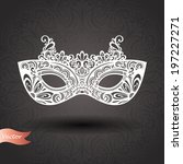 beautiful masquerade mask ... | Shutterstock .eps vector #197227271