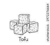 tofu square slice outline... | Shutterstock .eps vector #1972276664
