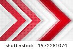 red and grey hi tech corporate... | Shutterstock . vector #1972281074