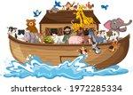 Animals On Noah's Ark With Sea...
