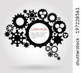 infographic design black gears  ...   Shutterstock .eps vector #197228561