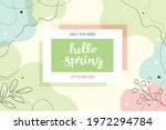 hello spring banner with... | Shutterstock . vector #1972294784