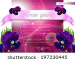 violet flower happy birthday... | Shutterstock .eps vector #197230445