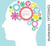 infographic design   human head ... | Shutterstock .eps vector #197233421