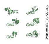set of natural labels. eco...   Shutterstock .eps vector #197233871