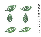 set of natural labels. eco icons   Shutterstock .eps vector #197233889