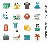 shopping icons | Shutterstock .eps vector #197236739