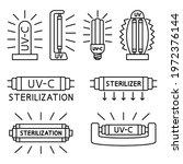 ultraviolet  disinfection lamp. ...   Shutterstock .eps vector #1972376144