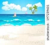 summer beach | Shutterstock .eps vector #197239601
