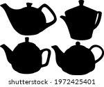 teapots unusual for tea... | Shutterstock .eps vector #1972425401