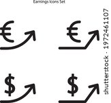 earning icons set isolated on... | Shutterstock .eps vector #1972461107