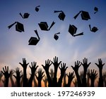 high school graduation hats... | Shutterstock . vector #197246939
