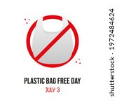 plastic bags free day vector... | Shutterstock .eps vector #1972484624