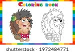 coloring page outline of... | Shutterstock .eps vector #1972484771