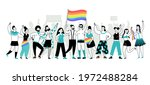 pride parade. young people ... | Shutterstock .eps vector #1972488284