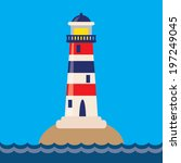 lighthouse vector illustration | Shutterstock .eps vector #197249045