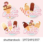 tasty colorful ice cream... | Shutterstock .eps vector #1972491557