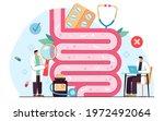 tiny doctors examining gut... | Shutterstock .eps vector #1972492064