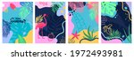 hello summer set of abstract... | Shutterstock .eps vector #1972493981