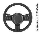 render of steering wheel... | Shutterstock . vector #197249414