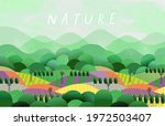 nature and landscape. vector... | Shutterstock .eps vector #1972503407