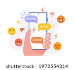 character hand holding cell... | Shutterstock .eps vector #1972554314