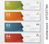 design clean number banners... | Shutterstock .eps vector #197257784