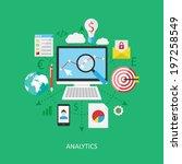flat design concept  analytics. | Shutterstock .eps vector #197258549
