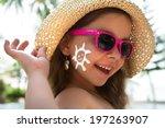 Happy Child Wearing Sunscreen...