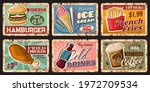 fast food retro tin signs with... | Shutterstock .eps vector #1972709534